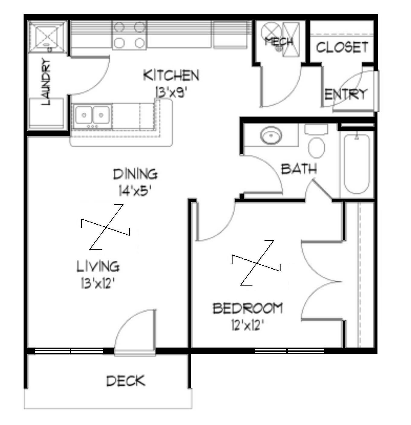 Two Bedroom Apartments Under 800