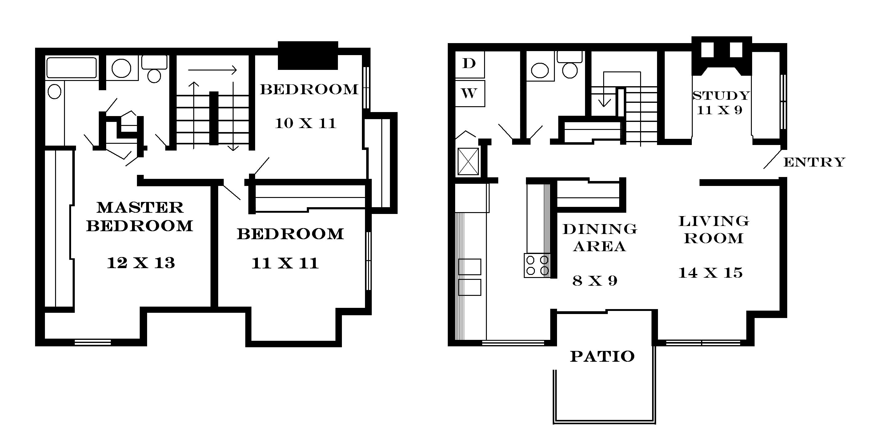 1600 sq ft apartment floor plans