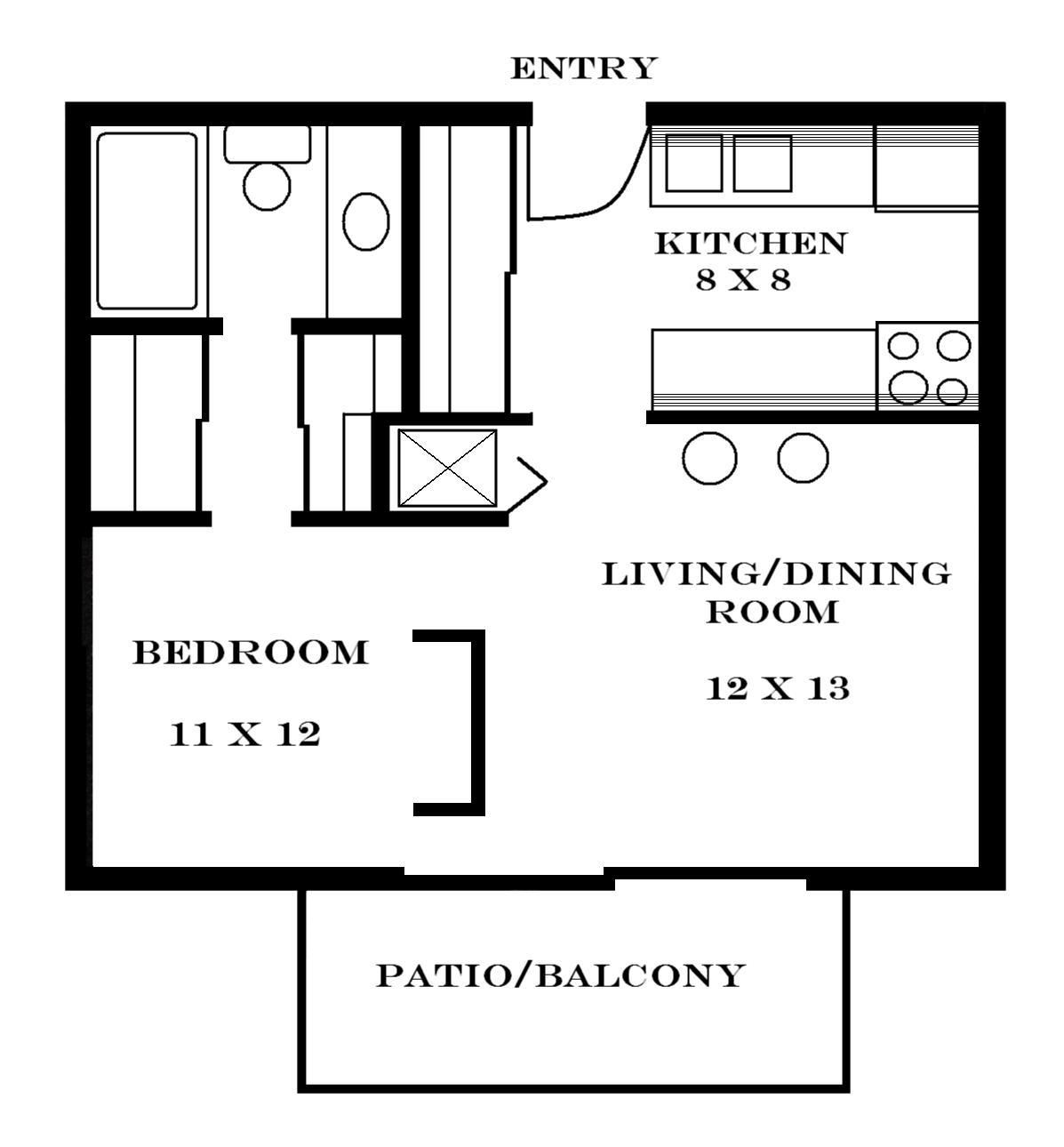 Lawrence apartments meadowbrook 2601 dover square Studio house plans one bedroom