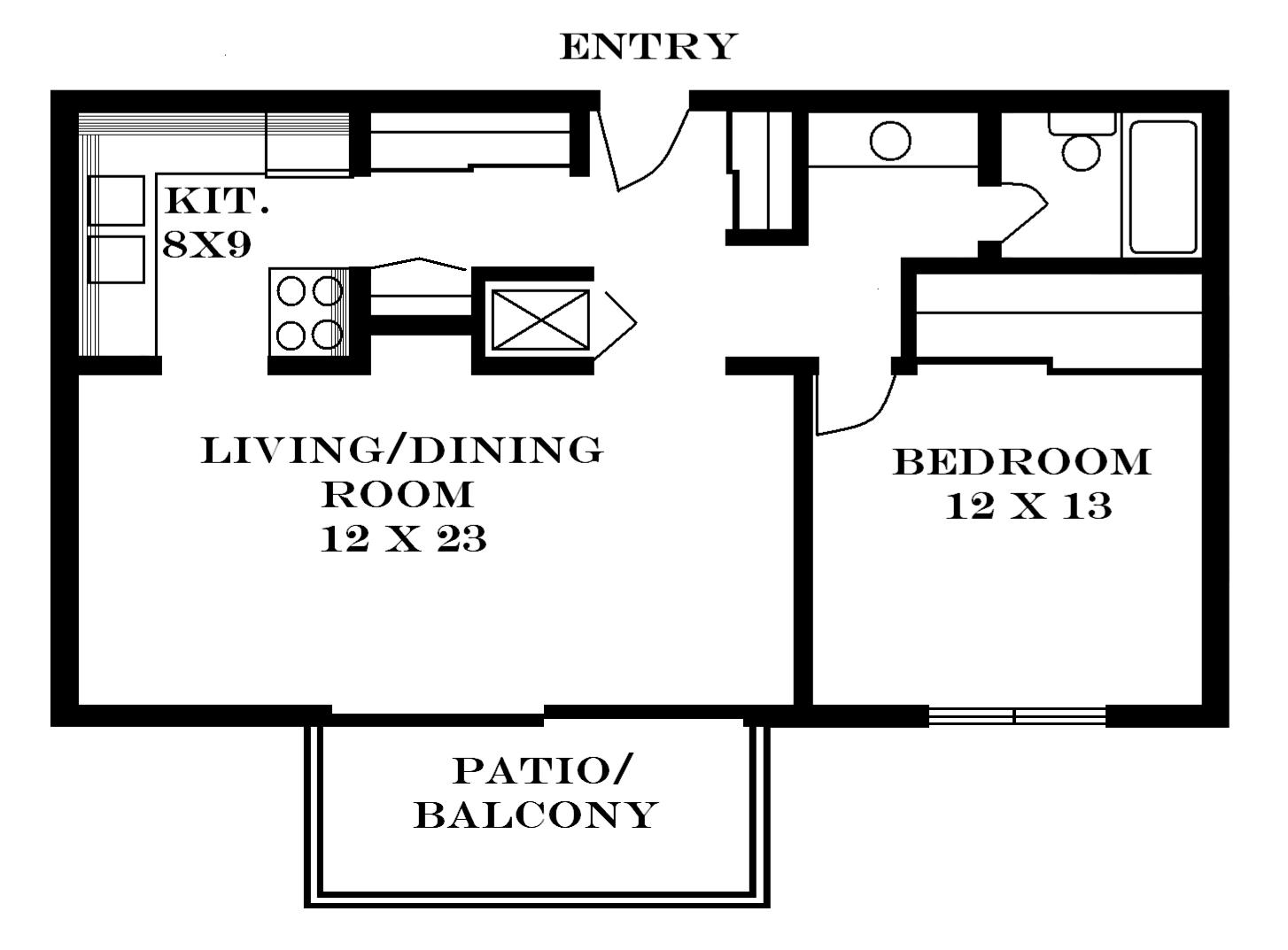 700 square feet floor plans for 700 sq ft apartment design